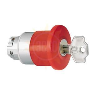 8 LM2T B6544G 501 Толкатель грибовидной кнопки d=40 мм в металлическом корпусе, для простой остановки, с фиксацией, возврат ключом G501, (без крепежного основания ..AU120), цвет красный