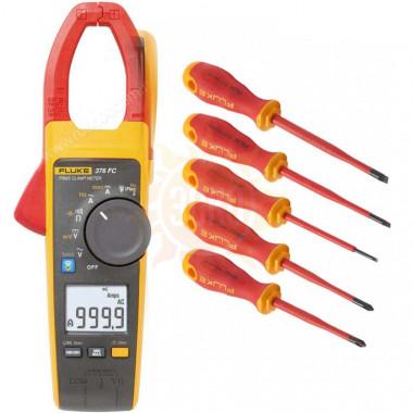 Комплект Fluke IB376M - токоизмерительные клещи Fluke 376 FC с набором отвёрток