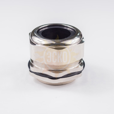резьба: M90 x 2 x 20.; каб. d: 77~67 мм; приб. отв. d:90 мм; цанга: разъемная, материал никелированная латунь